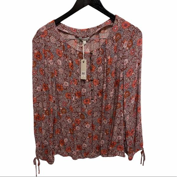 NWT Lucky Brand floral boho blouse